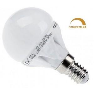 LED žárovka 8W 13xSMD2835 E14 720lm STUDENÁ STMÍVATELNÁ